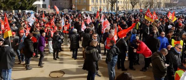 Proteste in Belfort (von Thomas Bresson)
