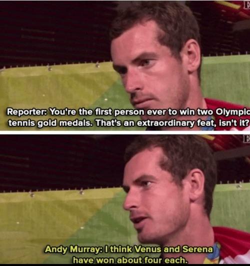 Andy Murray korrigiert Reporter
