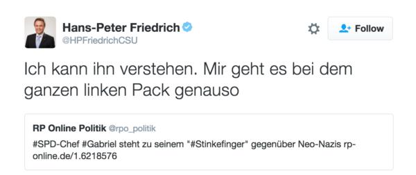 """Friedrich über das """"Linke Pack"""""""