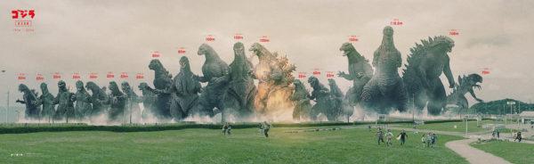 Godzilla - Größenvergleich