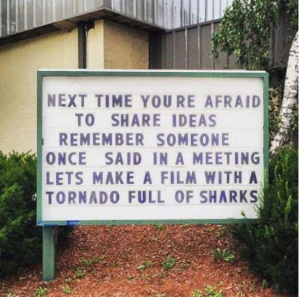 Never be afraid to share an idea!