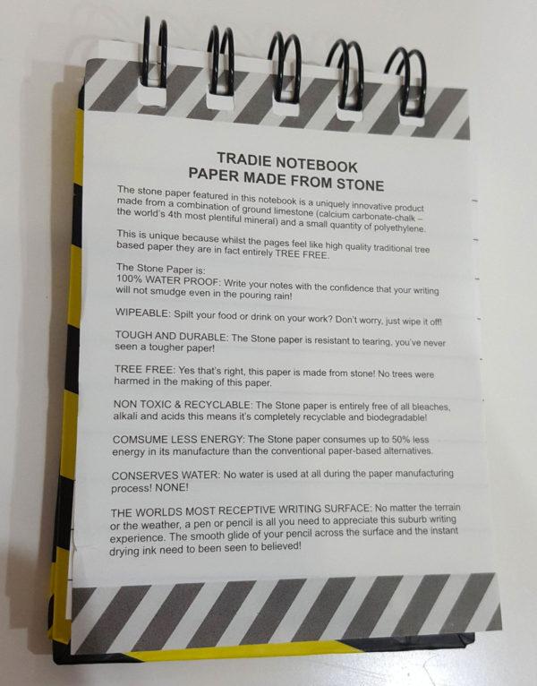 Steinpapier-Block