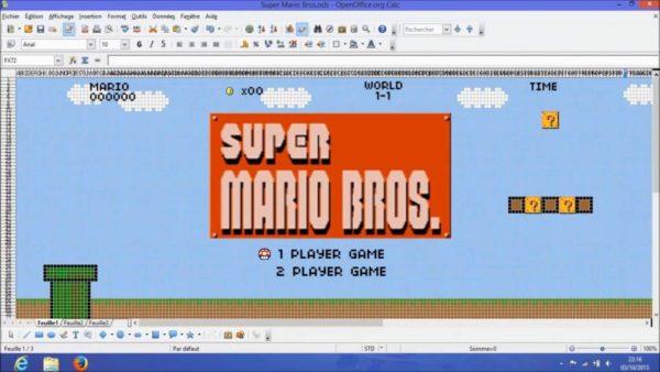 Super Mario Excel