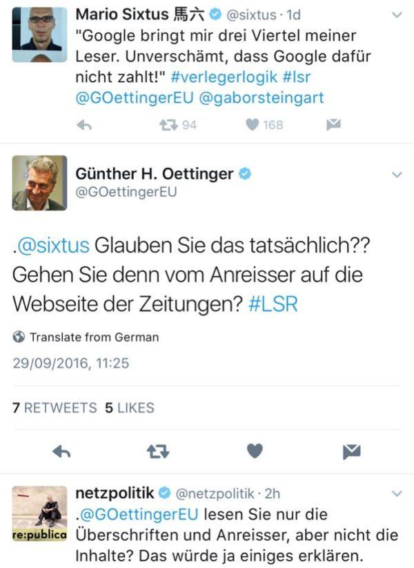 Liest Günther Öttinger nur Überschriften?