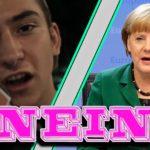 """Merkel sagt als Yung Hurn """"Nein!"""""""