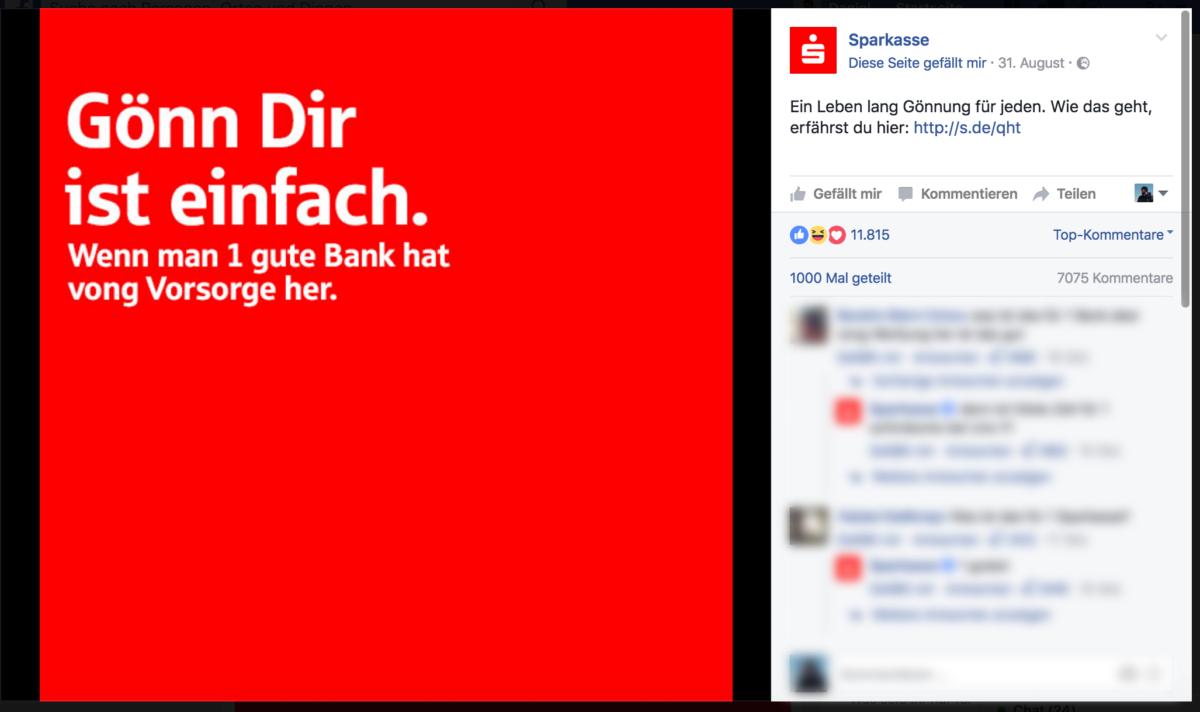 Beef: Nachdenkliche Sprüche Mit Bilder Vs. Sparkasse