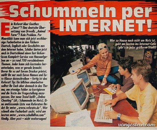Schummeln per Internet