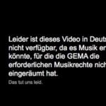 YouTube GEMA Hinweis