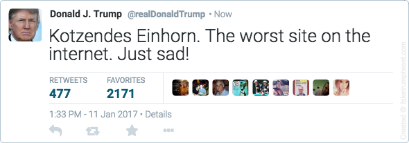 fake Trump Tweet