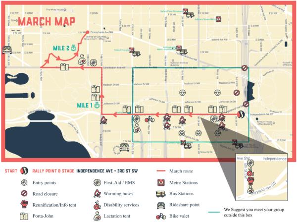 Women's March Map