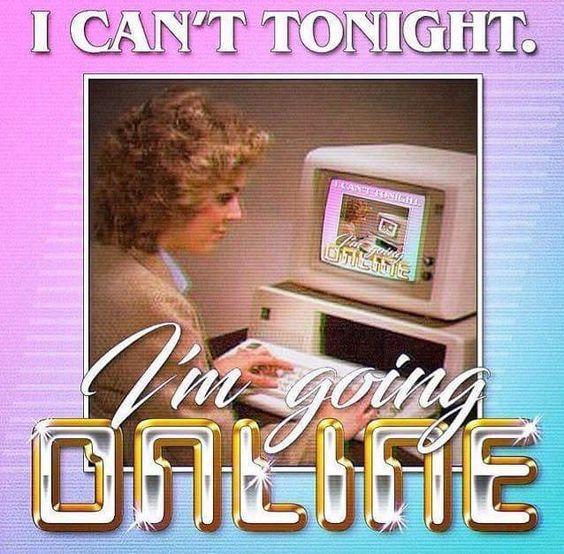 I'm going online