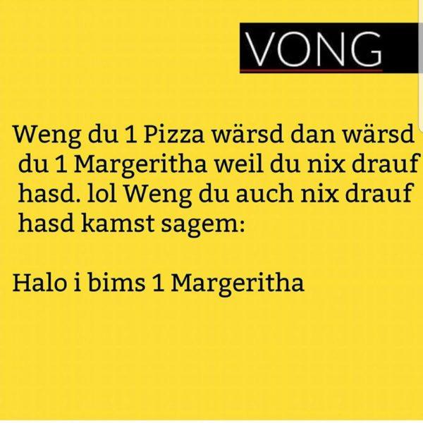 Halo i bims 1 Margeritha!