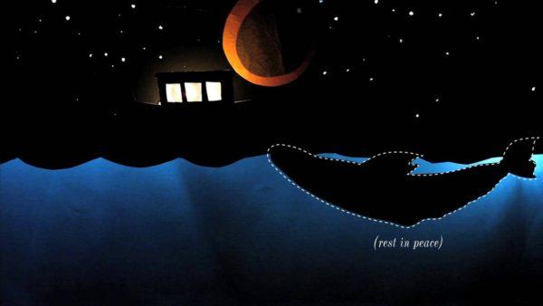 Whale dies