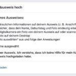 Facebook Ausweisüberprüfung