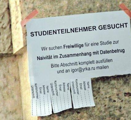 Studienteilnehmer gesucht