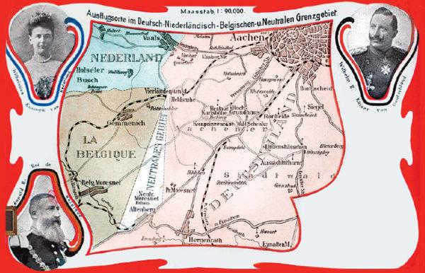Neutral Moresnet Postkarte