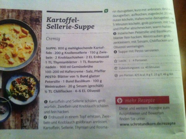 Kartoffel Sellerie Suppe - Rezept