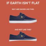 Schuhe für die runde Erde