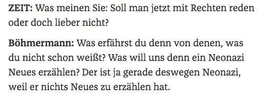 Jan Böhmermann will nicht mit Rechten reden
