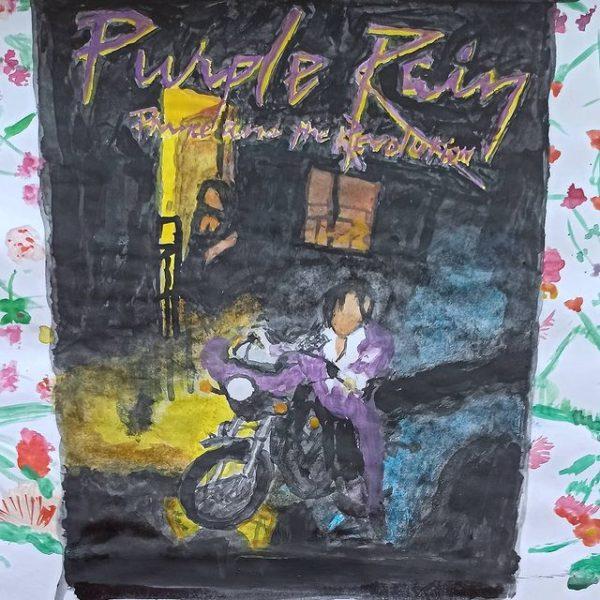 Mit Wasserfarben nachgemalt - Purple Rain von Prince